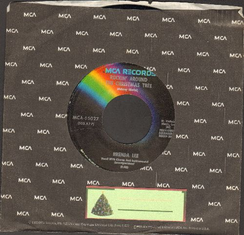 Lee, Brenda - Rockin' Around The Christmas Tree/Papa Noel (dark rainbow label re-issue with MCA company sleeve) - NM9/ - 45 rpm Records