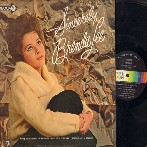Lee, Brenda - Sincerely, Brenda Lee: How Deep Is The Ocean, Only You (And Only Me), I Miss You So, Send Me Some Lovin', You Always Hurt The One You Love, Lazy River (vinyl MONO LP record) - NM9/NM9 - LP Records