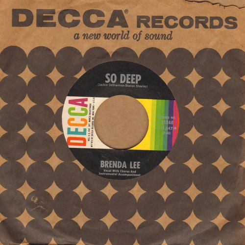 Lee, Brenda - Break It To Me Gently/So Deep (FANTASTIC over-looked flip-side!) (with vintage Decca compny sleeve) - NM9/ - 45 rpm Records