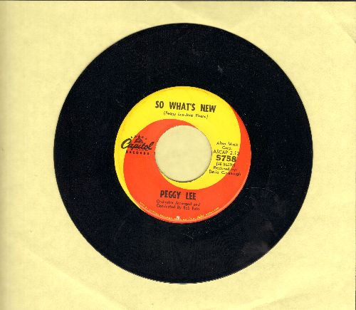 Lee, Peggy - So What's New/Walking Happy - NM9/ - 45 rpm Records
