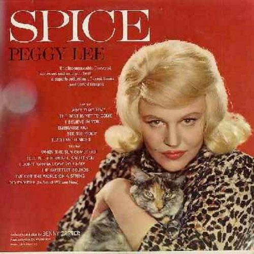 Lee, Peggy - Sugar 'N' Spice: See See Rider, I've Got The World On A String, Big Bad Bill (Is Sweet William Now), The Best Is Yet To Come, Teach Me Tonight (Vinyl STEREO LP record) - NM9/EX8 - LP Records