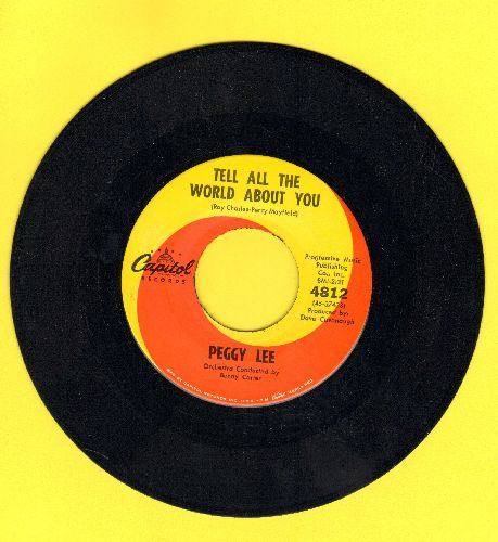 Lee, Peggy - Tell All The World About You/Amazing - EX8/ - 45 rpm Records