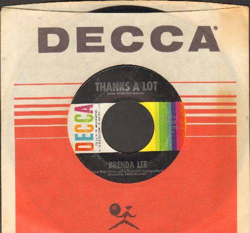 Lee, Brenda - Thanks A Lot/The Crying Game (with DECCA company sleeve)(bb) - EX8/ - 45 rpm Records