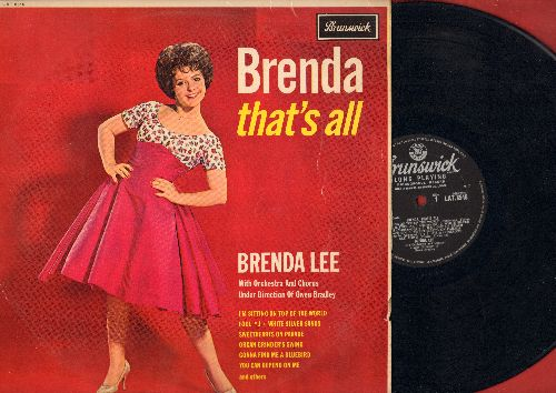 Lee, Brenda - That's All: Fool #1, You Can Depend On Me, Just Out Of Reach, Why Me?, Valley Of Tears, White Silver Sands (Vinyl MONO LP record, British Pressing) - EX8/VG7 - LP Records
