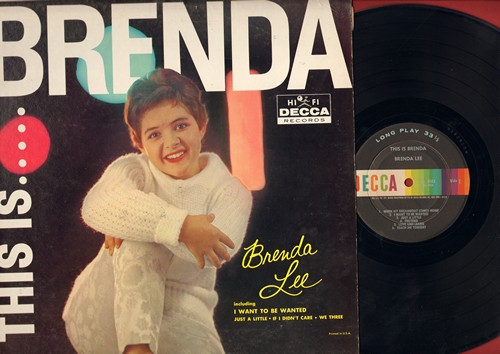 Lee, Brenda - This Is…..Brenda: I Want To Be Wanted, If I Didn't Care, Just A Little, Blueberry Hill, Pretend (Vinyl MONO LP record) - EX8/VG7 - LP Records
