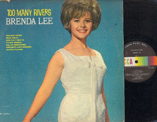 Lee, Brenda - Too Many Rivers: Hello Dolly!, It's Not Unusual, Everybody Loves Somebody, Stormy Weather, Think (Vinyl MONO LP record) - EX8/VG7 - LP Records