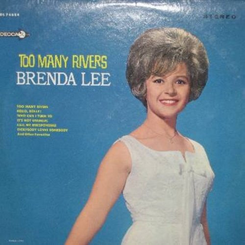 Lee, Brenda - Too Many Rivers: Hello Dolly!, It's Not Unusual, Everybody Loves Somebody, Stormy Weather, Think (vinyl STEREO LP record) - EX8/NM9 - LP Records