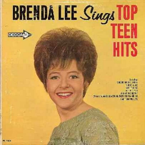 Lee, Brenda - Top Teen Hits: Dancing In The Street, She Loves You, Thanks A Lot, Let It Be Me, Is It True, Funny, Snap Your Fingers (Vinyl MONO LP record) - NM9/EX8 - LP Records