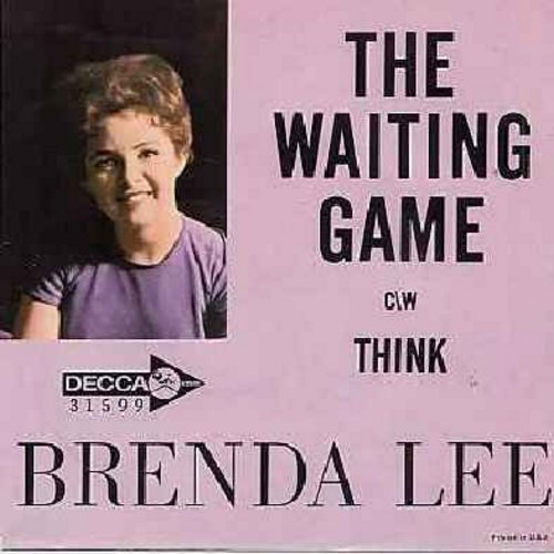 Lee, Brenda - Waiting Game/Think (with picture sleeve) - EX8/VG7 - 45 rpm Records