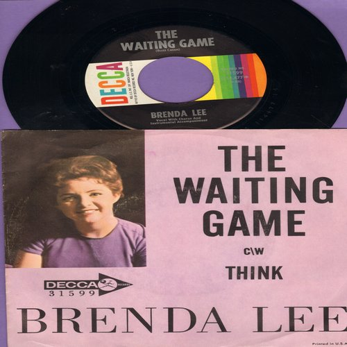 Lee, Brenda - Waiting Game/Think (with picture sleeve) - NM9/EX8 - 45 rpm Records