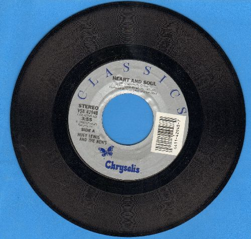Lewis, Huey & The News - Heart And Soul/I Want A New Drug (double-hit re-issue) - NM9/ - 45 rpm Records