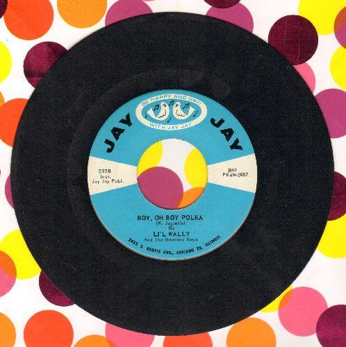 Li'l Wally - Boy, Oh Boy Polka/Night After Night - EX8/ - 45 rpm Records