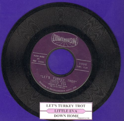 Little Eva - Let's Turkey Trot/Down Home (BEAUTIFUL BALLAD, over-looked flip-side!) (MINT condition with juke box label) - M10/ - 45 rpm Records