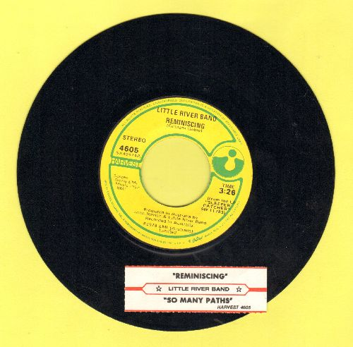 Little River Band - Reminiscing/So Many Paths (with juke box label) - NM9/ - 45 rpm Records
