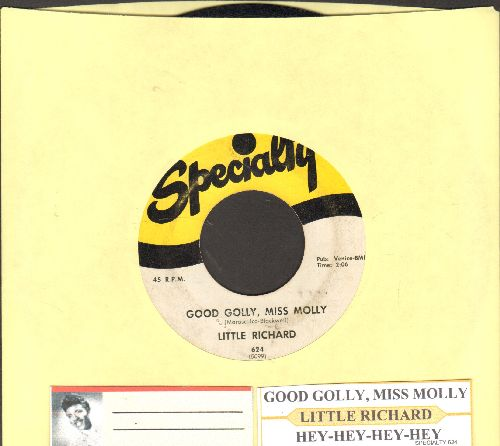 Little Richard - Good Golly, Miss Molly/Hey-Hey-Hey-Hey (with juke box label) - VG7/ - 45 rpm Records