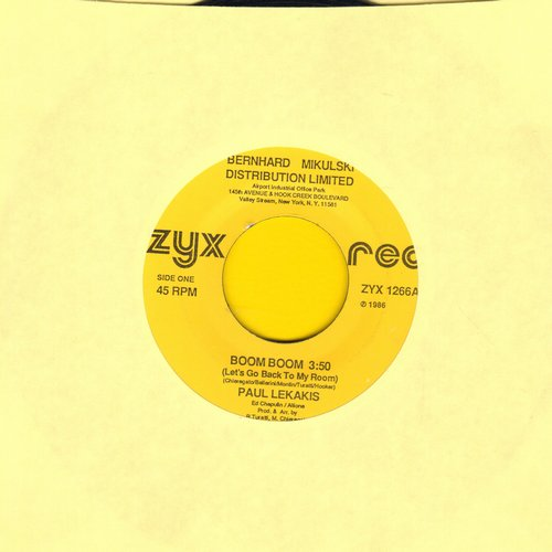 Lekakis, Paul - Boom Boom (Let's Go Back To My Room)/Instrumental Room (1986 EURO DANCE FAVORITE!) - VG7/ - 45 rpm Records