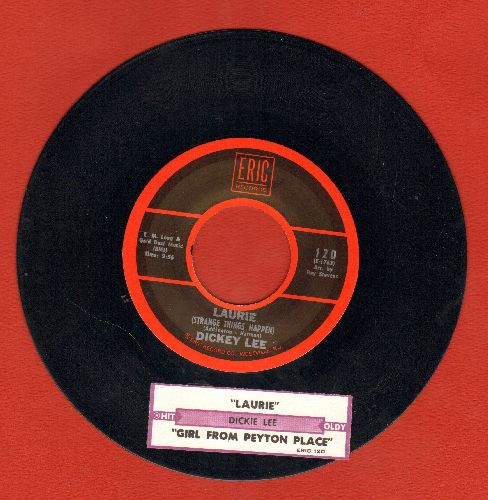 Lee, Dickey - Laurie (Strange Things Happen)/The Girl From Peyton Place (double-hit re-issue with juke box label) - EX8/ - 45 rpm Records