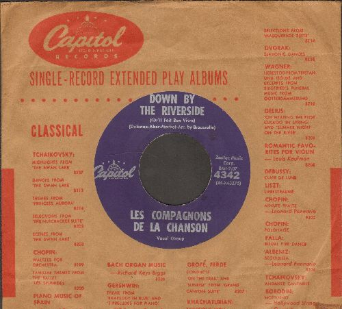 Les Compagnons De La Chanson - Down By The Riverside/Magoton (US Pressing, sung in Franch, with vintage Capitol company sleeve) - NM9/ - 45 rpm Records