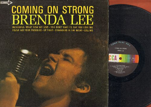 Lee, Brenda - Coming On Strong: What Now My Love, Up Tight, Strangers In The Night, Call Me, You Don't Have To Say You Love Me (Vinyl MONO LP record) - NM9/NM9 - LP Records