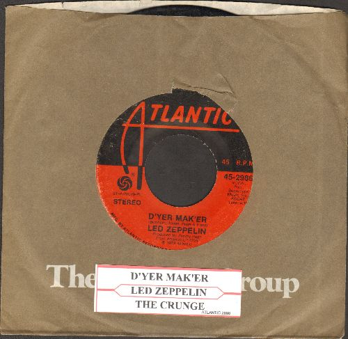 Led Zeppelin - D'yer Mak'er/The Crunge (with Atlantic company sleeve and juke box label) - VG6/ - 45 rpm Records