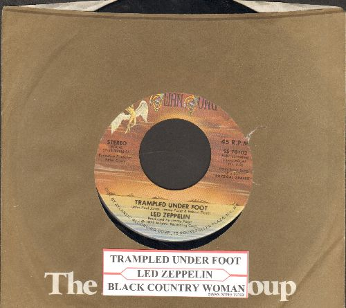 Led Zeppelin - Trampled Under Foot/Black Country Woman (with juke box label and company sleeve) - EX8/ - 45 rpm Records