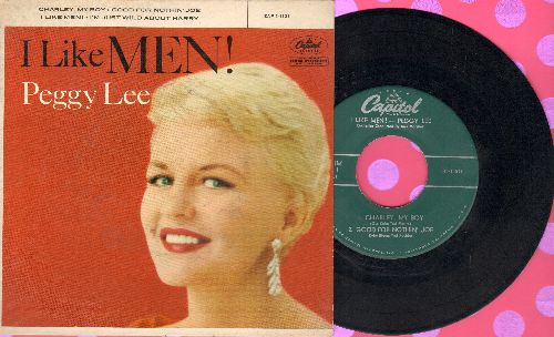 Lee, Peggy - I'm Just Wild About Harry/Charley, My Boy/Good-For-Nothin' Joe/I Like Men (vinyl EP record with picture cover) - EX8/EX8 - 45 rpm Records