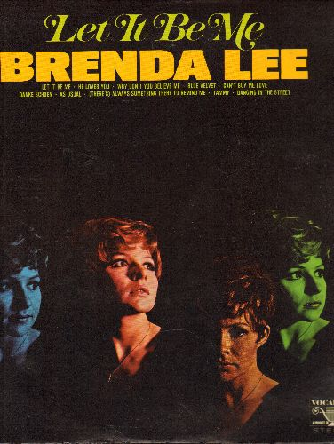 Lee, Brenda - Let It Be Me: He Loves You, Blue Velvet, Can't Buy Me Love, Danke Schoen, As Usual, Tammy, Dancing In The Street (Vinyl STEREO LP record) - EX8/EX8 - LP Records