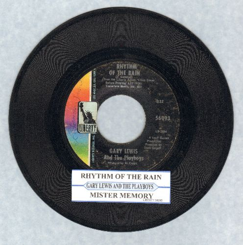 Lewis, Gary & The Playboys - Rhythm Of The Rain/Mister Memory (with juke box label) - VG7/ - 45 rpm Records