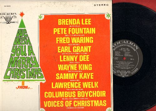 Lee, Brenda, Earl Grant, Columbus Boy Choir, others - We Wish You A Merry Christmas: Silver Bells, Sleigh Ride, The Christmas Song, I Wonder As I Wander (Vinyl STEREO LP record) - EX8/VG7 - LP Records