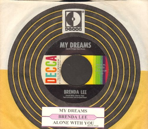 Lee, Brenda - My Dreams/Alone With You (with juke box label and Decca company sleeve) - EX8/ - 45 rpm Records
