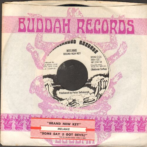 Melanie - Brand New Key/Some Say (I Got Devil)(DJ advance pressing with juke box label Buddah company sleeve)) - NM9/ - 45 rpm Records