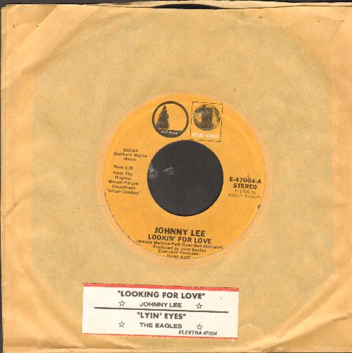 Lee, Johnny - Lookin' For Love/Lyin' Eyes (by Eagles on flip-side) (double-hit re-issue with juke box label) - EX8/ - 45 rpm Records