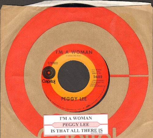 Lee, Peggy - Is That All There Is?/I'm A Woman (first issue with juke box label and Capitol company sleeve) - NM9/ - 45 rpm Records