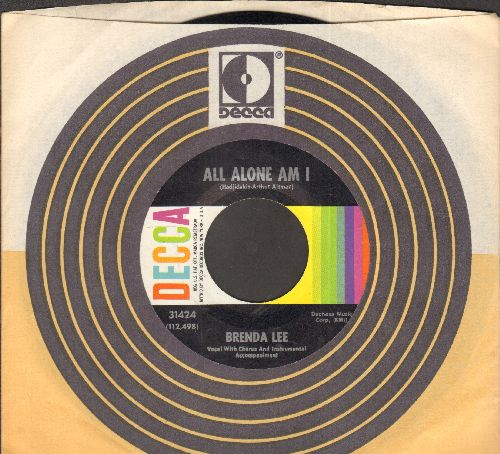 Lee, Brenda - All Alone Am I/Save All Your Lovin' For Me (with Decca company sleeve) - NM9/ - 45 rpm Records