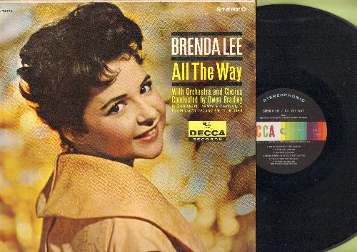 Lee, Brenda - All The Way: Dum Dum, Tragedy, On The Sunny Side Of The Street (Vinyl LP record, British Pressing) - NM9/EX8 - LP Records