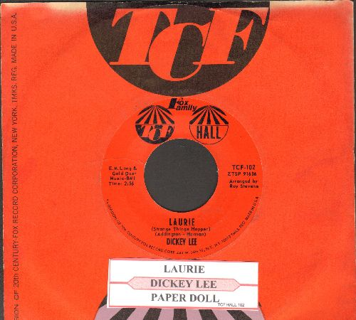 Lee, Dickey - Laurie (Strange Things Happen)/Party Doll (with juke box label and TCF company sleeve) - NM9/ - 45 rpm Records