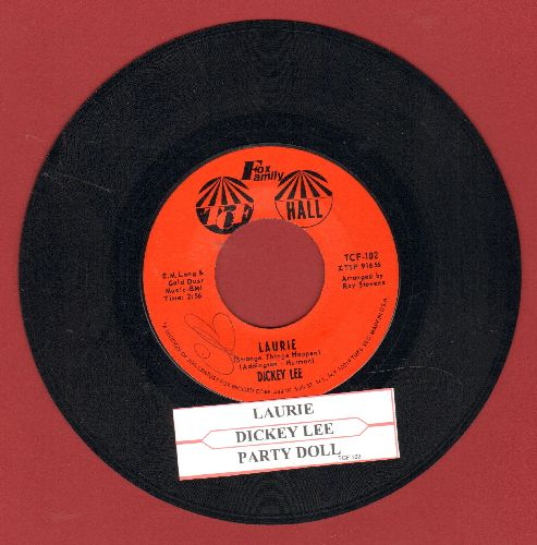 Lee, Dickey - Laurie (Strange Things Happen)/Party Doll (with juke box label) - VG7/ - 45 rpm Records
