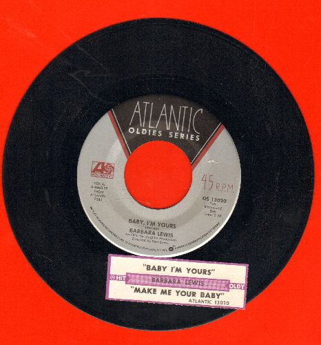 Lewis, Barbara - Baby, I'm Yours/Make Me Your Baby (double-hit re-issue with juke box label) - VG7/ - 45 rpm Records