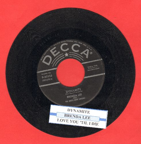 Lee, Brenda - Dynamite/Love You 'Till I Die (with juke box label) - VG6/ - 45 rpm Records