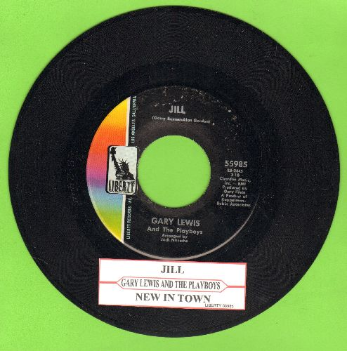 Lewis, Gary & The Playboys - Jill/New In Town (with juke box label) - NM9/ - 45 rpm Records