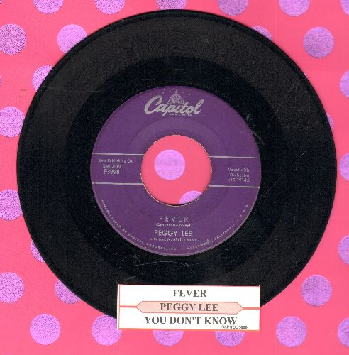 Lee, Peggy - Fever/You Don't Know (with juke box label) - VG7/ - 45 rpm Records