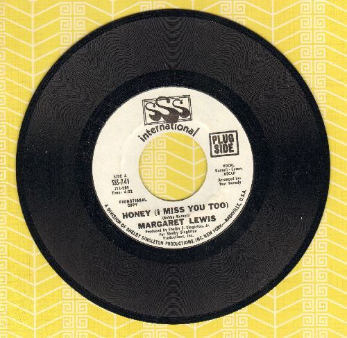 Lewis, Margaret - Honey (I Miss You Too) (answer to Bobby Goldsboro Hit -Honey, I Miss You-)/Milk And Honey (RARE DJ advance pressing) - NM9/ - 45 rpm Records