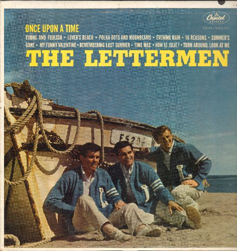 Lettermen - Once Upon A Time: Summer's Gone, How Is Julie?, My Funny Valentine, Lover's Beach, Polka Dots And Moonbeams, Turn Around Look At Me, 16 Reasons (Vinyl MONO LP record, NICE condition!) (soc) - EX8/EX8 - LP Records