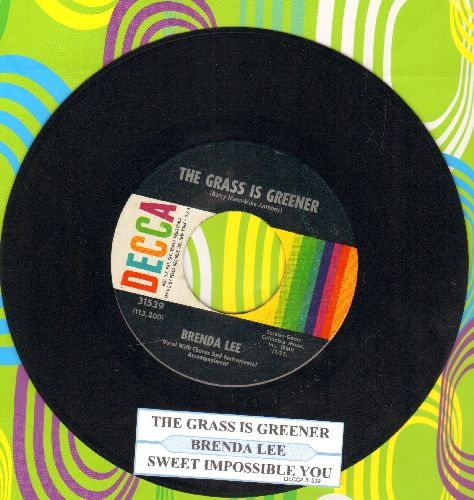 Lee, Brenda - Sweet Impossible You/The Grass Is Greener (Where You Are)(with juke box label) - NM9/ - 45 rpm Records