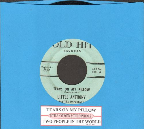 Little Anthony & The Imperials - Tears On My Pillow/Two People In The World (early r-issue with juke box label) - EX8/ - 45 rpm Records