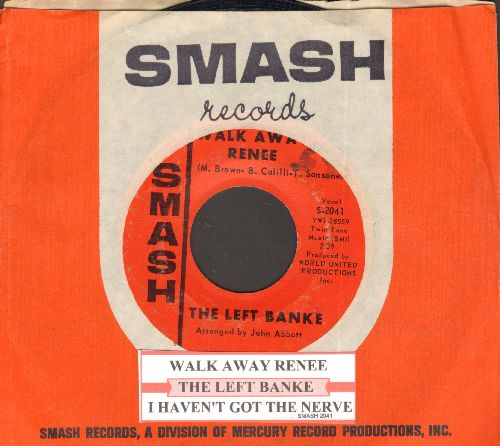 Left Banke - Walk Away Renee/I Haven't Got The Nerve (with juke box label and Smash company sleeve) - EX8/ - 45 rpm Records