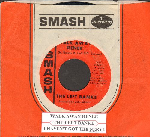 Left Banke - Walk Away Renee/I Haven't Got The Nerve (with juke box label and Smash company) - EX8/ - 45 rpm Records