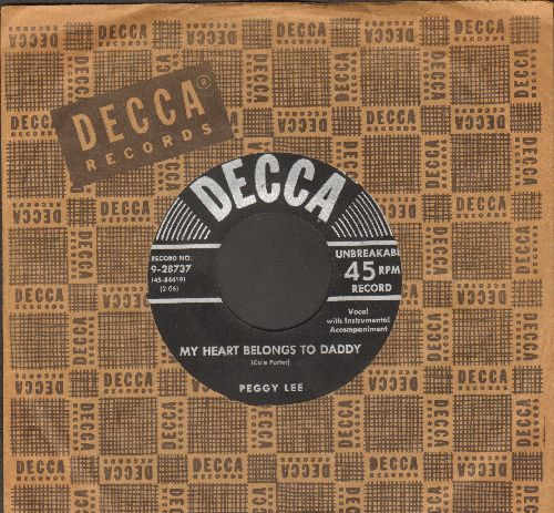 Lee, Peggy - My Heart Belongs To Daddy/You Do Something To Me (with vintage Decca company sleeve) - EX8/ - 45 rpm Records