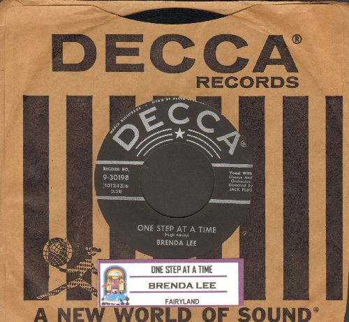 Lee, Brenda - One Step At A Time/Fairyland (with DECCA company sleeve) - EX8/ - 45 rpm Records