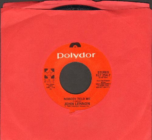Lennon, John - Nobody But Me/O' Sanity (by Yoko Ono on flip-side) - EX8/ - 45 rpm Records